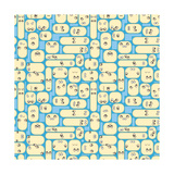 People Living in Urban Closer Apartments - Vector Seamless Texture Photographic Print by  pzAxe