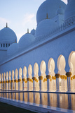 Arches of Grand Mosque of Abu Dhabi Photographic Print by Ahmad A Atwah