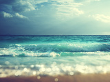 Beach in Sunset Time, Tilt Shift Soft Effect Photographic Print by Iakov Kalinin