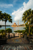 Putrajaya Mosque with Miniature or Tilt Shift Effect. Photographic Print by  Jasni