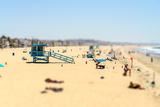 People Enjoying a Sunny Day in Venice Beach, California, Usa. Tilt-Shift Effect Applied Photographic Print by Marco Rubino