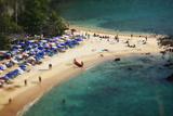 Tropical Sandy Beach and Calm Lagoon with Clear Blue Water. Pseudo Tilt Shift. Ya Nui Beach, Phuket Photographic Print by Dudarev Mikhail