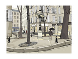 Vector Illustration of Furstemberg Square in Paris Photographic Print by  isaxar