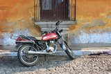 Old Motorcyle in Colonial Antigua, Guatemala Photographic Print by Charles Harker