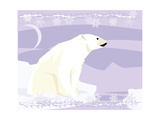 Polar Bear in a Decorative Illustration Photographic Print by  Artistan
