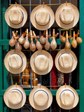 Hats, Musical Instruments,Religious Necklaces and Other Traditional Craft for Sale in Havana Photographic Print by  Kamira