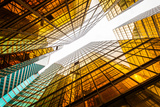 Low Angle View of Modern Skyscraper Exterior and Sky in Modern City Photographic Print by zhu difeng