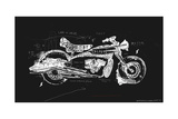 Motorcycle, Which Consists of a Plurality of Symbols Photographic Print by  Dmitriip