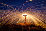 Fire Dancing on the Rocks Photographic Print by Infinity T29