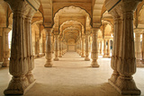 Columned Hall of Amber Fort. Jaipur, India Photographic Print by Igor Plotnikov