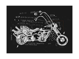 Image of Motorcycle, Which is Made in the Style of Graffiti Photographic Print by  Dmitriip