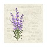 The Lavender Elegant Card. Vintage Postcard Background Vector Template for Wedding Invitation. Labe Photographic Print by  Kotkoa