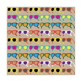 Sun Glasses Pattern Photographic Print by Leo Brazil