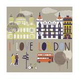 I Love London Print Design Photographic Print by  Lavandaart