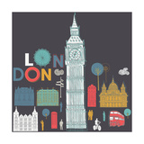Vector London Symbols Photographic Print by  Lavandaart