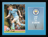 Man City De Bruyne 17/18 Collector-tryk