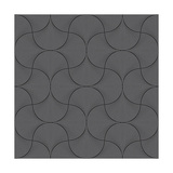 Vector Abstract Seamless Wavy Pattern with Geometrical Order. Silver Triangular Twinkles on a Black Photographic Print by L Kramer