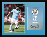 Man City Aguero 17/18 Collector-tryk