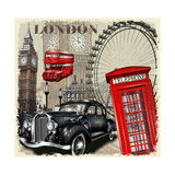 London Vintage Poster. Photographic Print by  AXpop