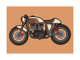 Cafe Race Motor Vector Photographic Print by wnprh collective