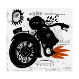 Image of Motorcycle, Which is Made in the Style of Graffiti Translation from Chinese - Chinese Qual Photographic Print by  Dmitriip