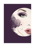 Woman Face. Hand Painted Fashion Illustration Photographic Print by Anna Ismagilova