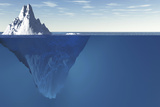 An Iceberg with Visible Underwater Surface Photographic Print by  Goodmorning3am