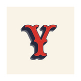 Y Letter Logo in Vintage Western Style. Vector Font for Labels, Posters Etc. Photographic Print by  kaer_stock