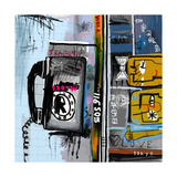 Graffiti with Telephone Photographic Print by  Dmitriip