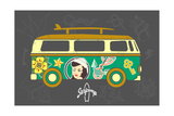 Bus with Surfboard Fotoprint van  Naches