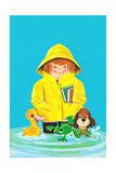 Puddles of Fun - Jack & Jill Giclee Print by Jack Weaver