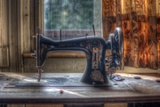 Old Sewing Machine Photographic Print by Nathan Wright