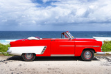 Cuba Fuerte Collection - Red Car Cabriolet Photographic Print by Philippe Hugonnard