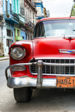 Cuba Fuerte Collection - Detail on Red Classic Chevy Photographic Print by Philippe Hugonnard