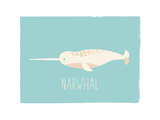 Narwhal Posters by Rebecca Lane