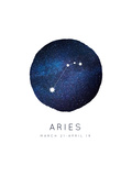 Aries Zodiac Constellation Poster by Rebecca Lane