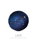 Leo Zodiac Constellation Prints by Rebecca Lane