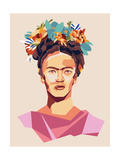 Frida Print Posters van Rebecca Lane