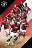 Manchester United - Players 17/18 Prints