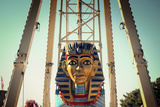Pharaoh Head on a Amusement Park Ride Posters