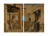 The Pensive Christ and the Virgin Mary Grieving, C.1518-20 Impressão giclée por Hans Holbein the Younger