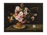 Bouquet of Asters, 1859 Impressão giclée por Gustave Courbet