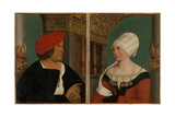Double Portrait of the Basel Mayor Jacob Meyer Zum Hasen and His Wife Dorothea Kannengiesser, 1516 Impressão giclée por Hans Holbein the Younger