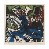 Illustration for 'Peter Schlemihl' by Adalbert Von Chamisso, 1915 Impressão giclée por Ernst Ludwig Kirchner