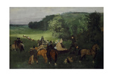 At the Racecourse (The Races), C.1861-62 Impressão giclée por Edgar Degas