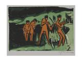Bathers Tossing Reeds, 1910 Impressão giclée por Ernst Ludwig Kirchner