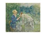 In the Bois De Boulogne, C.1875-9 Impressão giclée por Berthe Morisot