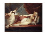 Reclining Nude and Woman at the Piano, 1799-1800 Impressão giclée por Henry Fuseli