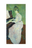 Marguerite Gachet at the Piano, 1890 Impressão giclée por Vincent van Gogh