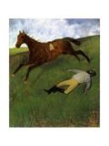 Injured Jockey, 1896-98 Impressão giclée por Edgar Degas